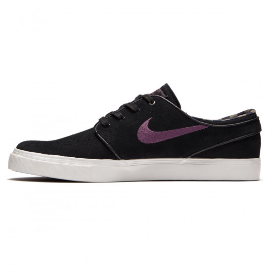 Nike Zoom Stefan Janoski Shoes - Black/Pro Purple Ridgerock/Light Bone - 6.0