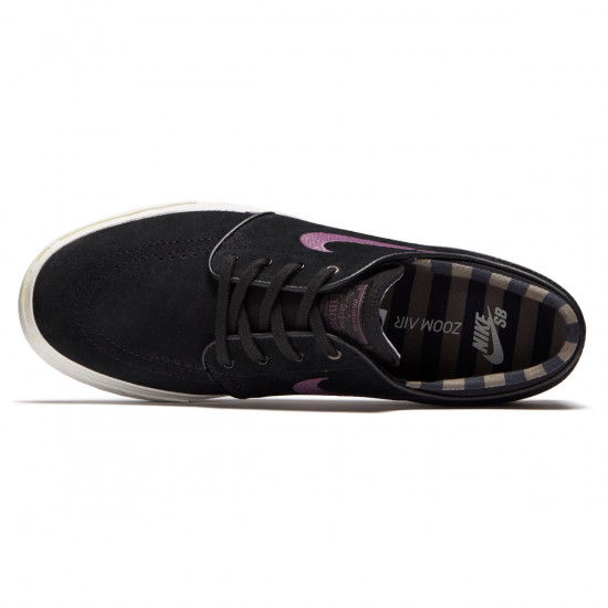Nike Zoom Stefan Janoski Shoes - Black/Pro Purple Ridgerock/Light Bone