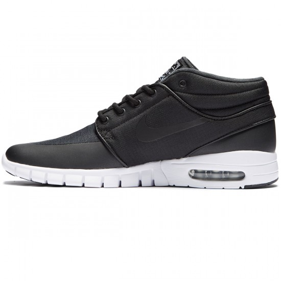 Nike Stefan Janoski Max Mid Shoes - Black/Black Metallic/Silver White - 11.0