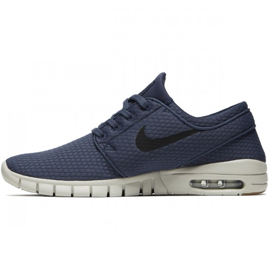 Nike Stefan Janoski Max Shoes - Thunder Blue/Black Gum/Brown - 6.5