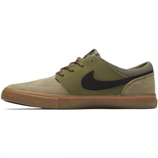 Nike SB Solarsoft Portmore II Shoes - Medium Olive/Black - 6.0