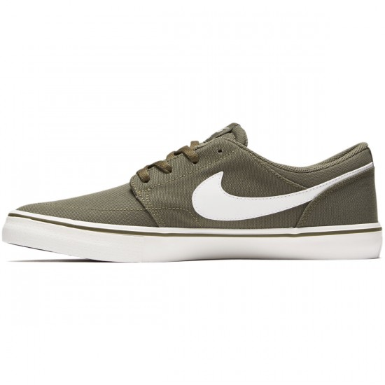 Nike SB Solarsoft Portmore II Shoes - Medium Olive/Summit White - 6.0