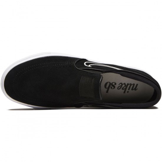 Nike Zoom Stefan Janoski Slip-On Shoes - Black/Light Bone/White - 6