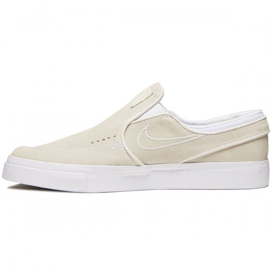 Nike Zoom Stefan Janoski Slip-On Shoes - White/Light Bone/White - 6