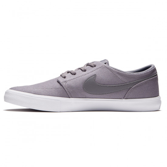 Nike SB Solarsoft Portmore II Shoes - Gunsmoke/White - 7.0