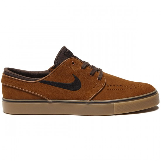 Nike Zoom Stefan Janoski Shoes - Hazelnut/Black Baroque Brown/Light Brown Gum - 6.0