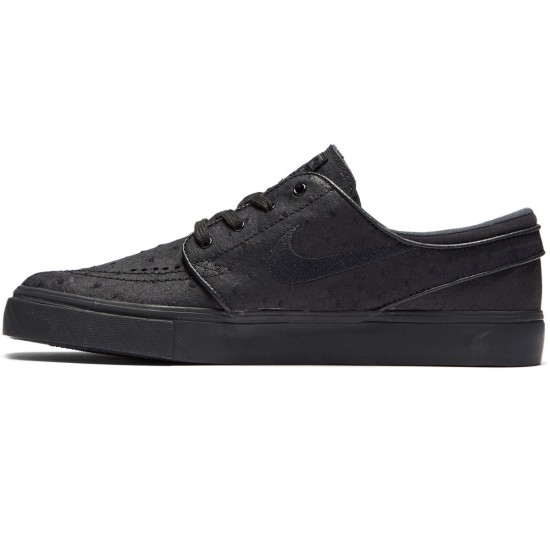 Nike Zoom Stefan Janoski L Shoes - Black/Black Anthracite - 7.0