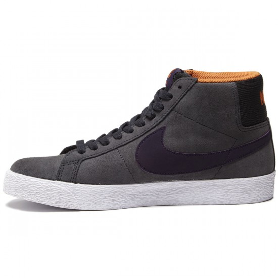 Nike SB Blazer Premium SE Shoes - Anthracite/Purply Dynasty/White Clay - 7.0
