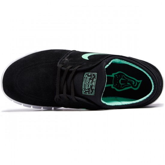 Nike Stefan Janoski Max L Shoes - Black/Green Glow/White - 13.0