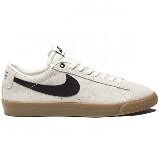 Nike Blazer Low GT Shoes - Ivory/Black/Gum Light Brown - 7.0