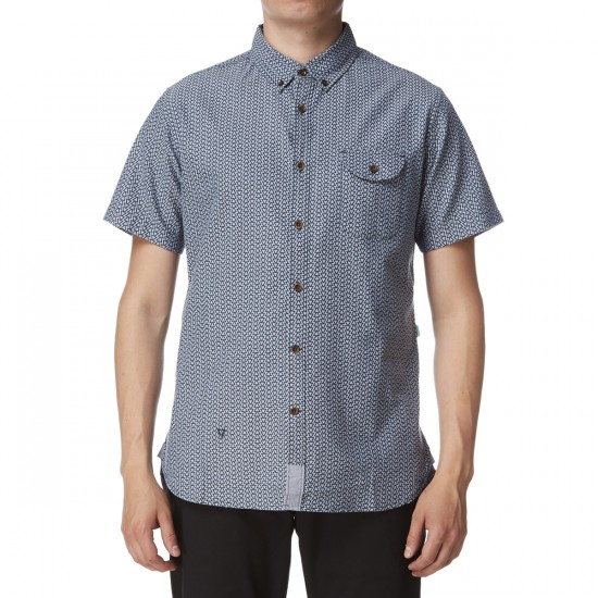 Vissla 2 X 7 Oxford Short Sleeve Shirt - Dark Navy