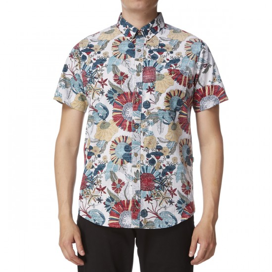 Vissla Garden City Short Sleeve Shirt - Bone