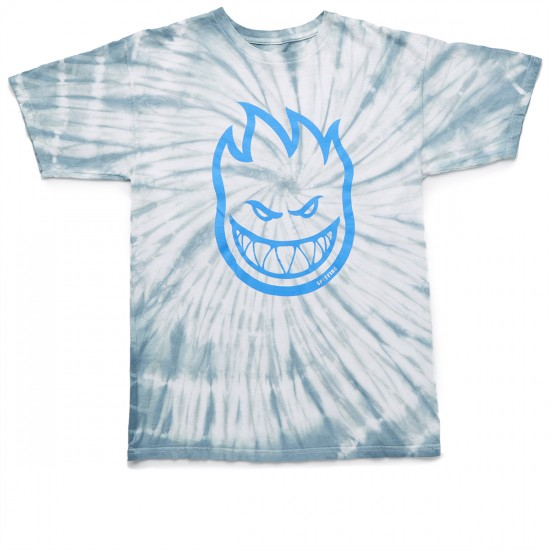 Spitfire Bighead T-Shirt - Light Grey Spiral Tie Dye