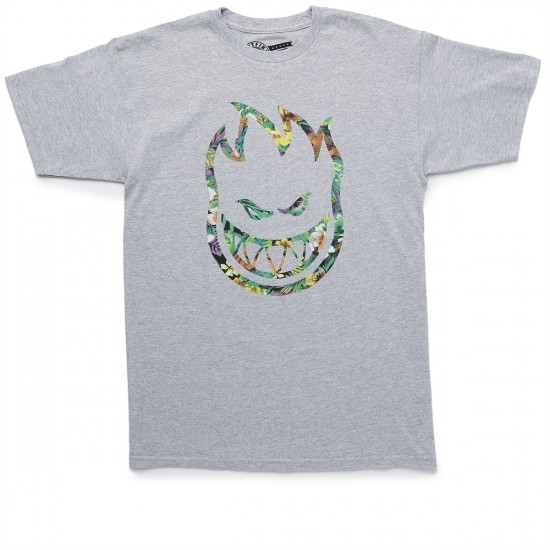Spitfire Bighead Floral Fill T-Shirt - Athletic Heather