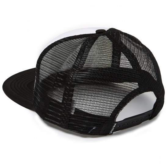 Spitfire Flaghead Trucker Hat - White/Black