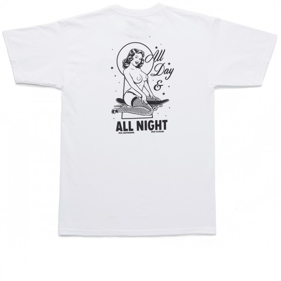 Real All Day All Night T-Shirt - White