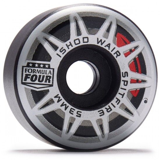 Spitfire Formula Four Ishod Burnouts Skateboard Wheels - Black - 53mm 99D