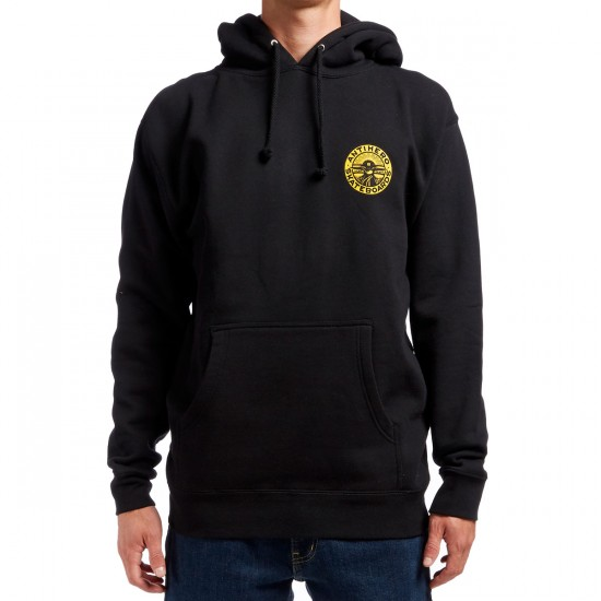 Anti-Hero Stay Ready Hoodie - Black/Yellow