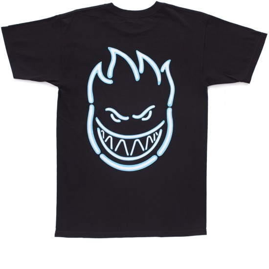 Spitfire Neon Burner T-Shirt - Black