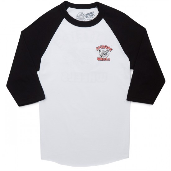 Spitfire Clean Burner 3/4 Sleeve T-Shirt - White/Black