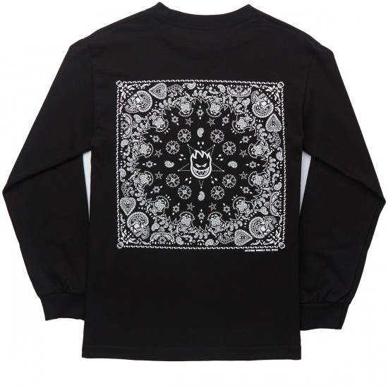 Spitfire Bandana Long Sleeve T-Shirt - Black