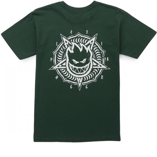 Spitfire Pentaburn Double T-Shirt - Forest Green