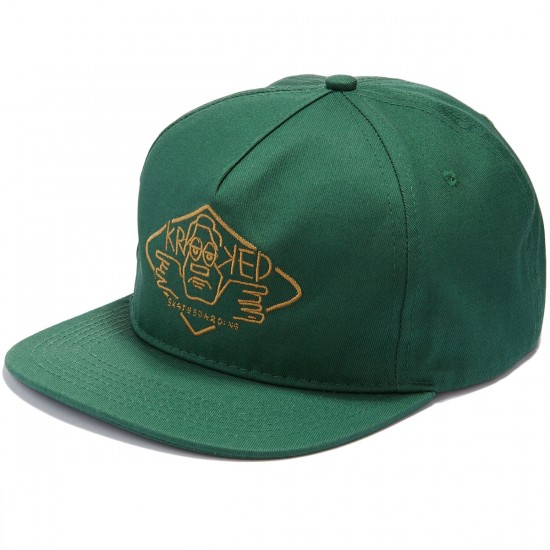 Krooked Arketype Unstructured Snapback Hat - Pine