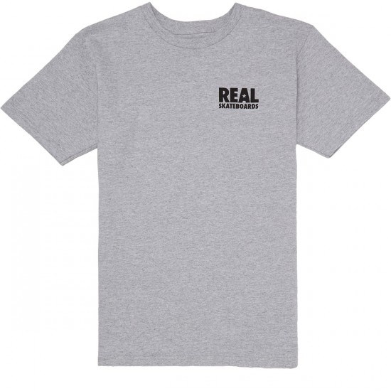 Real Real R T-Shirt - Athletic Heather