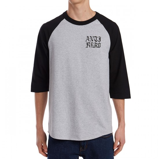 Anti-Hero Dighero Raglan Shirt - Athletic Heather/Black