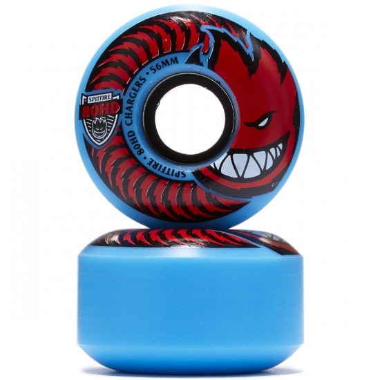 Spitfire 80HD Chargers Classic Skateboard Wheels - Blue/Red - 56mm