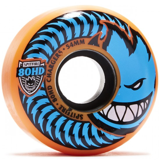 Spitfire 80HD Chargers Conicals Skateboard Wheels - Orange/Blue - 54mm
