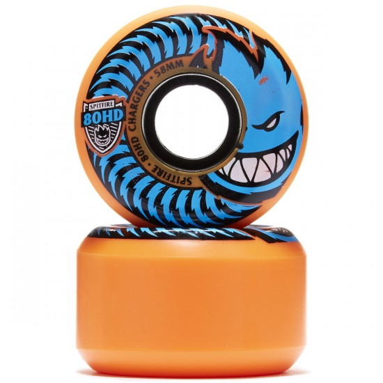 Spitfire 80HD Chargers Conicals Skateboard Wheels - Orange/Blue - 58mm