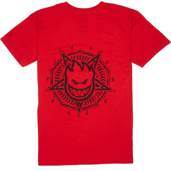 Spitfire Petaburn Double T-Shirt - Red