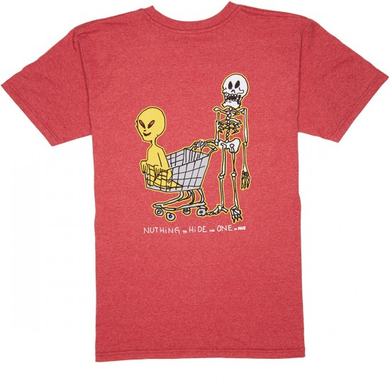 Krooked Oddest Couple T-Shirt - Red Heather