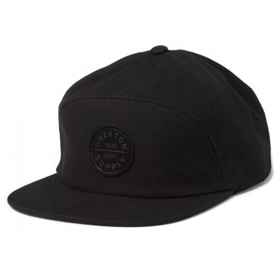 Brixton Oath 7 Panel Hat - Black