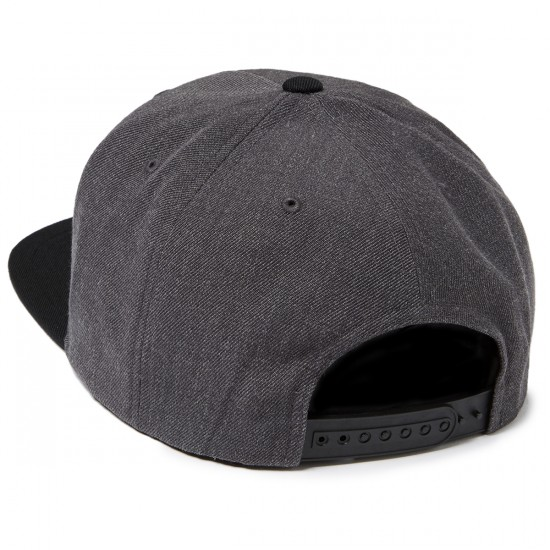 Brixton Jolt Snapback Hat - Charcoal Heather/Black