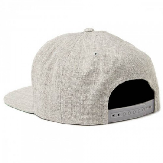 Brixton Wheeler Snapback Hat - Light Heather Grey