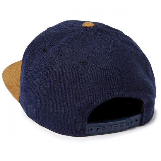 Brixton Wheeler Snapback Hat - Navy/Copper