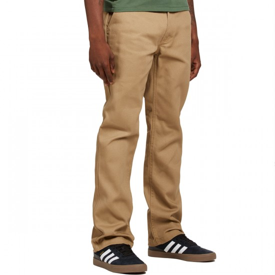 Brixton Fleet Rigid Chino Pants - Khaki - 30 - 32