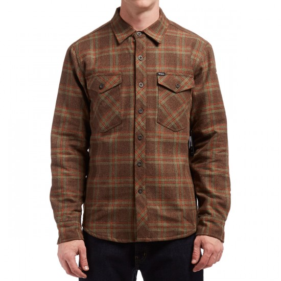 Brixton Manchester Long Sleeve Flannel Shirt - Brown