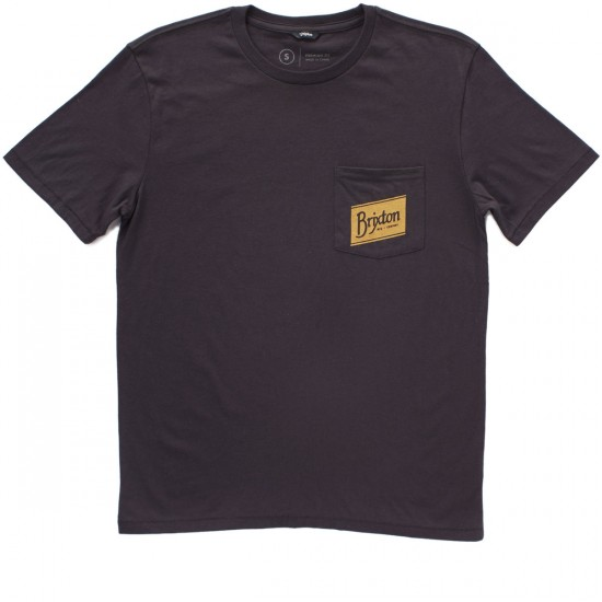 Brixton Carton Pocket T-Shirt - Washed Black