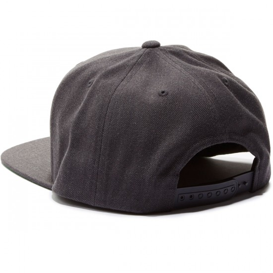 Brixton Wheeler Snapback Hat - Charcoal Heather