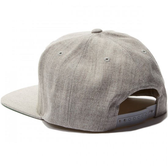 Brixton Oath III Snapback Hat - Light Heather Grey