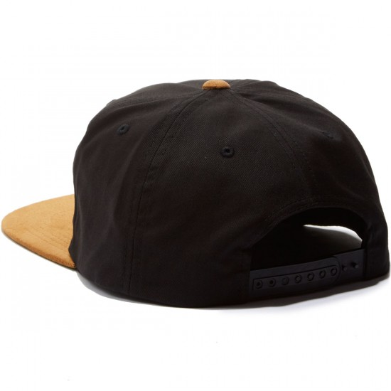 Brixton Alliance Snapback Hat - Black/Copper