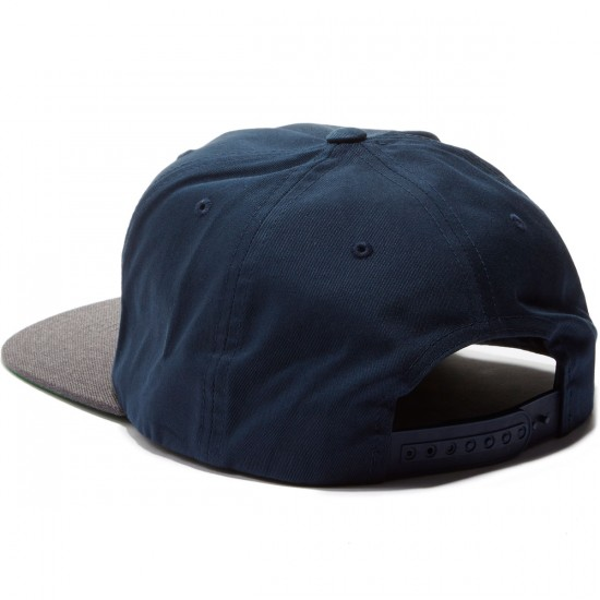 Brixton Alliance Snapback Hat - Navy/Charcoal