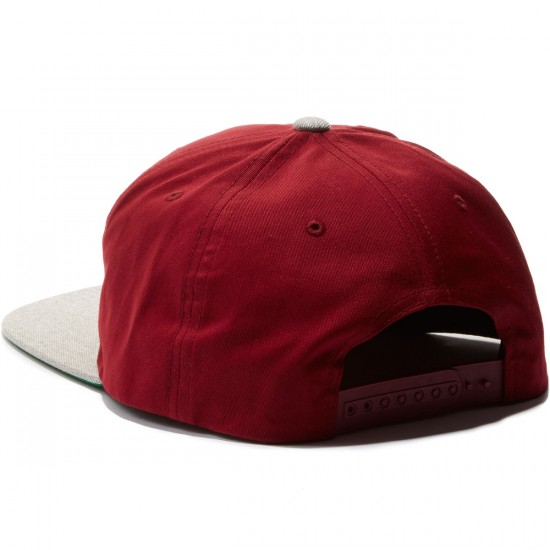 Brixton Alliance Snapback Hat - Burgundy/Light Heather Grey