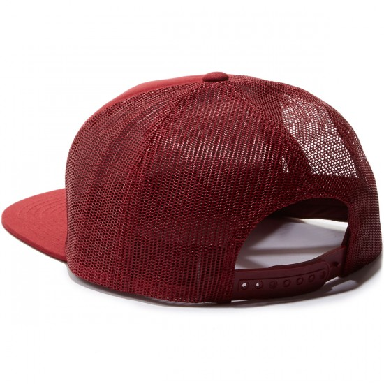 Brixton National Mesh Hat - Burgundy