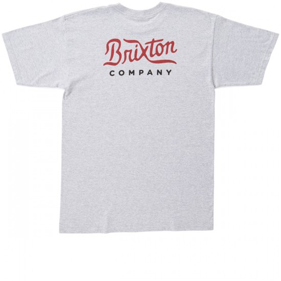 Brixton Milford T-Shirt - Heather Grey