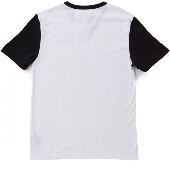 Brixton Fenwick Short Sleeve Henley T-Shirt - White/Black