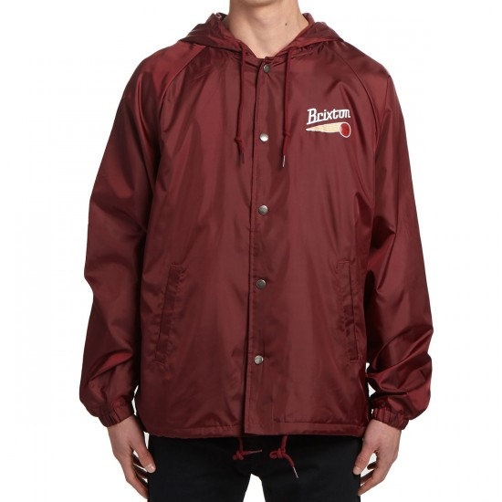 Brixton Maverick Windbreaker Jacket - Burgundy